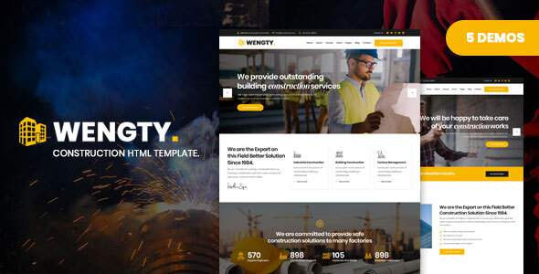 Wengty – Construction & Building HTML Template        TFx Clancy Rob