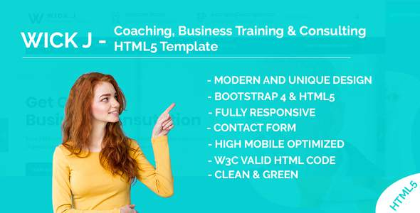 WickJ - Coaching, Business Training & Consulting HTML5 Template        TFx Chas Bram