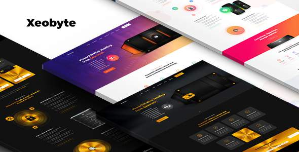 Xeobyte – The Hosting PSD Web Template        TFx Duncan Laverne