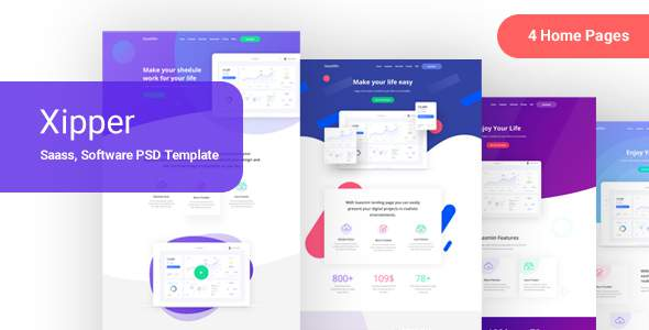 Xipper –  PSD Landing Page Template for App & Saas Products        TFx Bob Temple