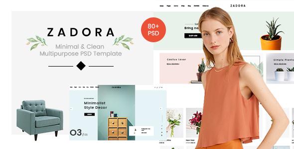 Zadora - Minimal & Clean Multipurpose PSD Template        TFx Cowessess Clark