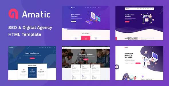 Amatic – SEO /Digital Agency HTML5 Template        TFx Loren Benedict
