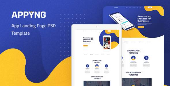 Appyng - App Landing Page PSD Template        TFx Davy Innocent