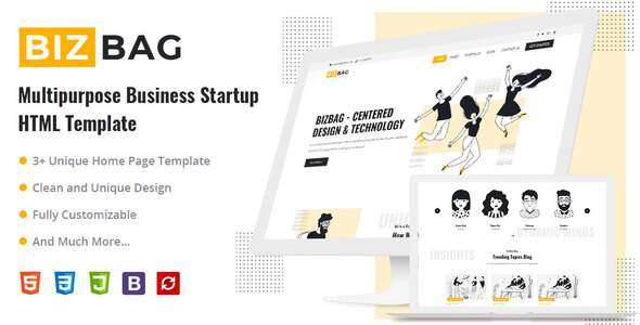 BizBag - Multipurpose Business Startup HTML Template        TFx Souta Hayes