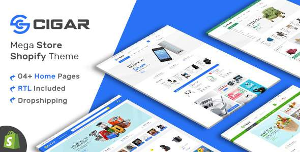 Cigar - Grocery, Electronics, Furniture Shopify Theme        TFx Zackary Conner