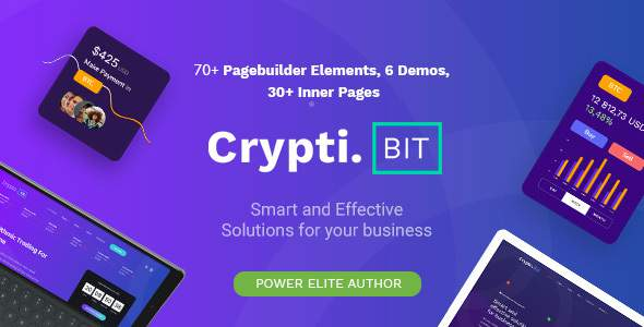 CryptiBIT - Landing Page and ICO/IEO Cryptocurrency WordPress theme        TFx Takashi Frederick