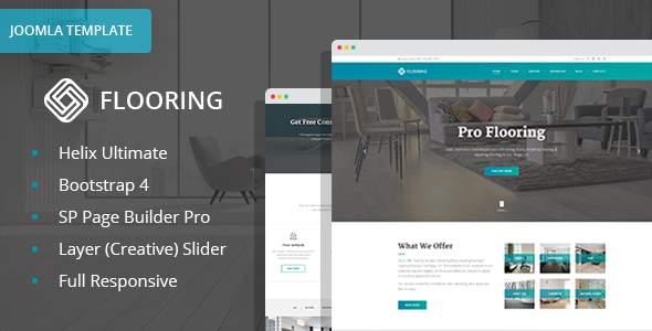 Flooring – Floor Repair / Refinish Joomla Website Template with Page Builder        TFx Stuart Selby