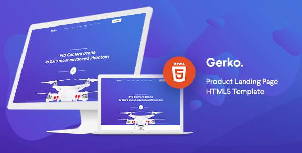 Gerko – Product Landing Page Template with Bootstrap        TFx Brent Naoki