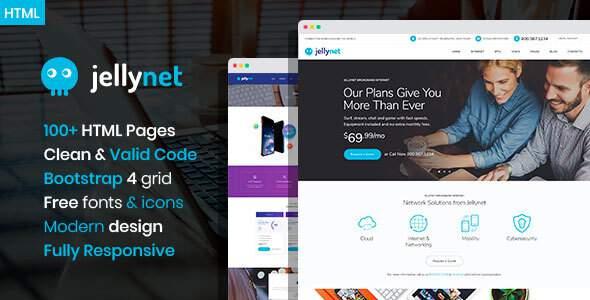 JellyNet - ISP/Tech Startup HTML Template        TFx Parris Nickolas