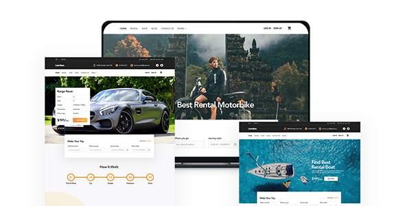 Lambor - Rental Car, Boat, Bike,Motorbike psd Template        TFx Karson Suleiman