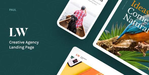 Lewis - Creative Agency Landing Page        TFx Tatanka Chagatai