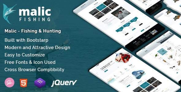 Malic – Fishing & Hunting Club Joomla Template        TFx Patsy Paxton