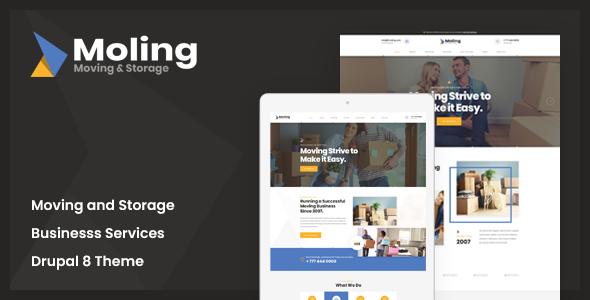 Moling - Responsive Business Service Drupal 8.7 Theme        TFx Trev Wayra