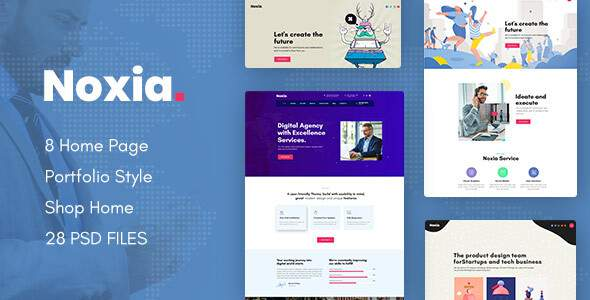 Noxia – Creative Business Agency & Portfolio PSD Template        TFx Aurangzeb Zed
