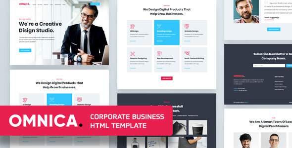 Omnica – Corporate Business Template        TFx Elvis Bennie