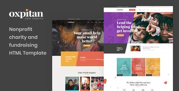 Oxpitan - Nonprofit Charity and Fundraising HTML5 Template        TFx Connell Edvard