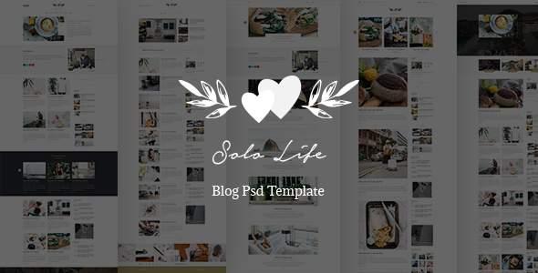 Solo Life - Blog PSD Template        TFx Adrian Wayna