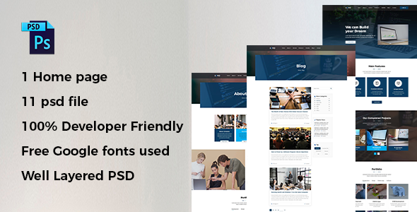 Xopio – Business PSD Template        TFx Manley Selby