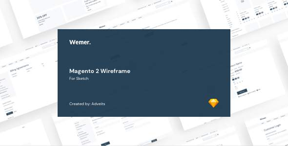 Wemer – Magento 2 Wireframe for Sketch        TFx Robbie Prince