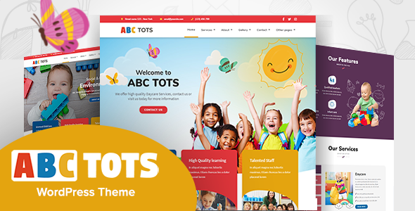 Abc Tots – Kindergarten WordPress Theme TFx