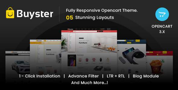 Buyster Multipurpose - Responsive Opencart 30 Theme TFx