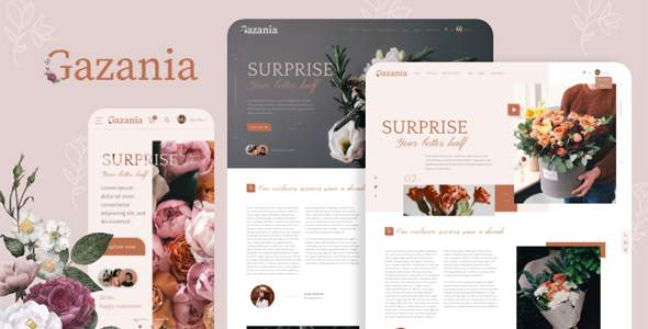 Gazania – Flower Shop Sass HTML Template TFx