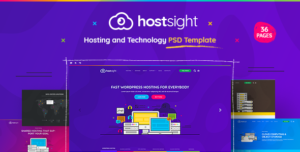 HostSite – Hosting and Technology Website PSD Template TFx