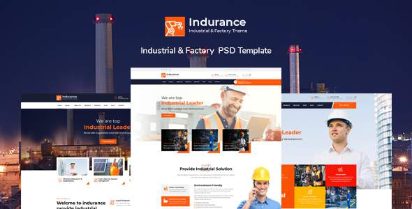 Indurance – Chemical amp Factory PSD Template TFx
