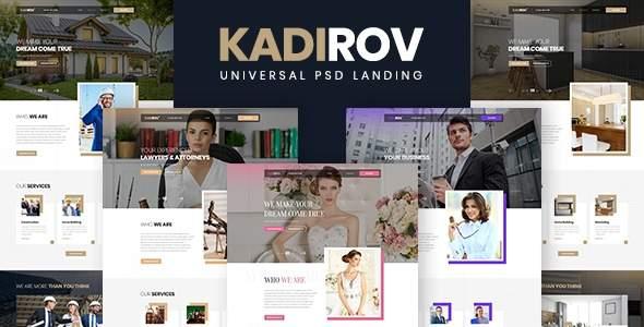 Kadirov – Universal PSD Landing TFx PSDTemplates