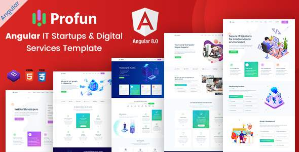Profun – Angular IT Startups amp Digital Services Template TFx