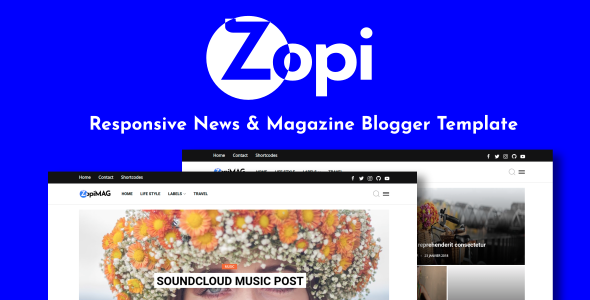 ZopiMag - Responsive News amp Magazine Blogger Template TFx