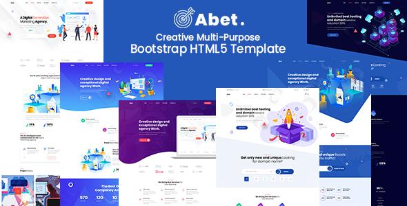 Abet – MultiPurpose Bootstrap HTML5 Template TFx