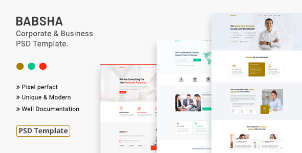 Babsha – Corporate amp Business PSD Template TFx
