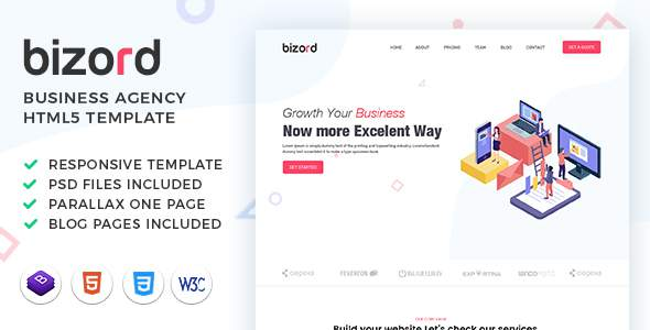 Bizord – Business Agency HTML Template TFx