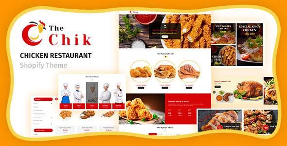 Chik  Chicken Restaurant Shopify Theme TFx