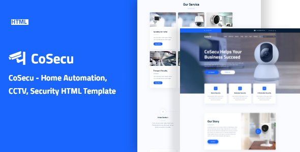 Cosecu – Home Automation CCTV Security HTML Template TFx
