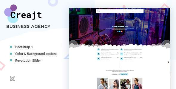 Creajt - Business Agency Joomla Template TFx