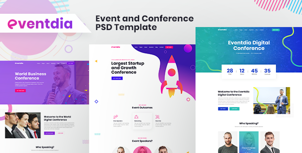 Eventdia - Event and Conference PSD Template TFx