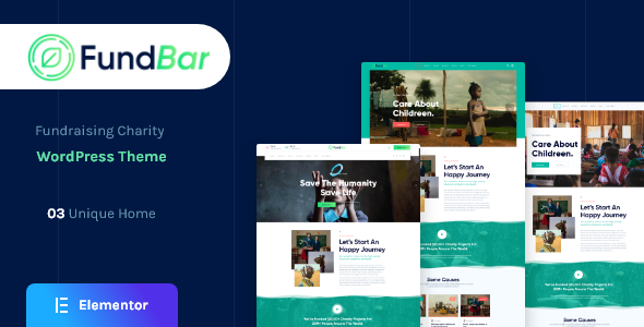 FundBar – Nonprofit Charity WordPress Theme TFx
