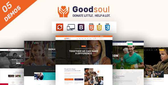 GoodSoul - Charity amp Fundraising HTML Template TFx