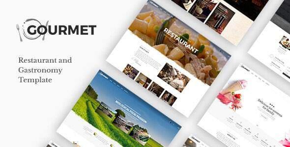 Gourmet - Restaurant and Food Joomla Template TFx