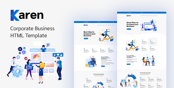 Karen  Corporate Business Bootstrap 4 Template TFx
