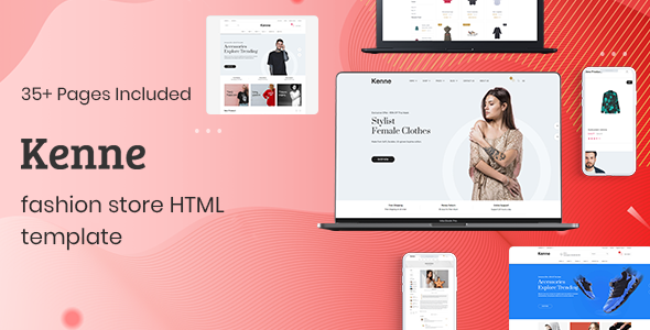 Kenne – Fashion Store HTML Template TFx