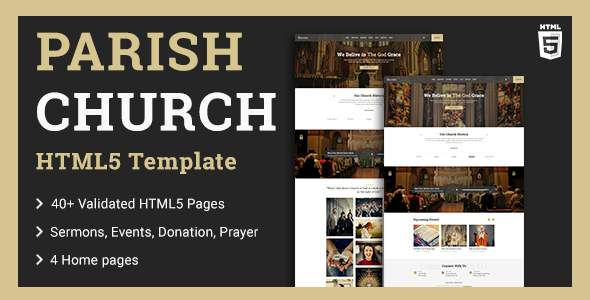 Parish  Church HTML5 Template TFx SiteTemplates