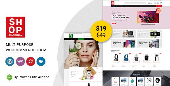 Shopinia – Multipurpose WooCommerce Theme TFx