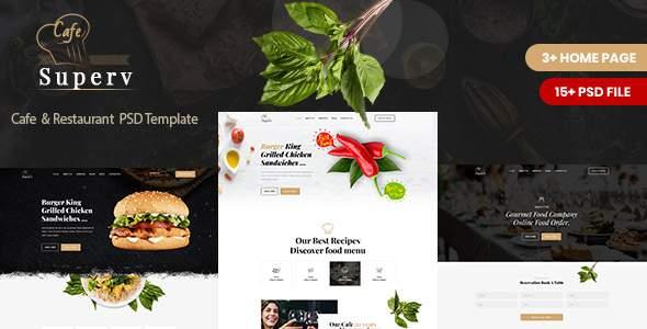 Superv Cafe - Restaurant PSD Template TFx