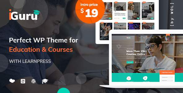 iGuru – Education amp Courses WordPress Theme TFx