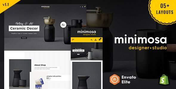 minimosa - Art amp Design Studio - Shopify Multi purpose Responsive Theme TFx