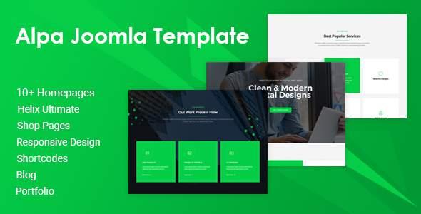 Alpa  Responsive Multipurpose Joomla Website Template TFx