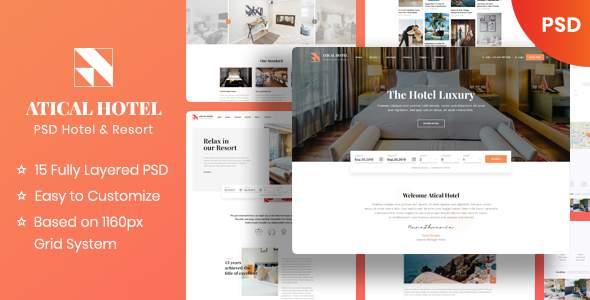 Atical – Hotel PSD Template TFx PSDTemplates